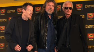 Le groupe britannique Led Zeppelin à Londres en 2007