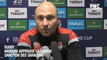 Rugby : Mignoni approuve la lourde sanction des Saracens