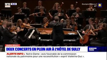 Paris: deux concerts de musique de chambre en plein air à l'hôtel de Sully