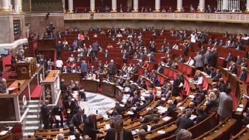 Une séance à l'Assemblée nationale. (Illustration)