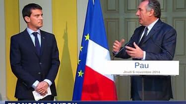 Manuel Valls a rencontré François Bayrou jeudi à Pau à l'occasion de l'ouverture du Congrès de l'Assemblée des départements de France.