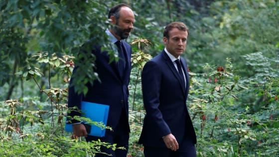 Le président Emmanuel Macron et le Premier ministre Edouard Philippe le 29 juin 2020 à l'Elysée à Paris