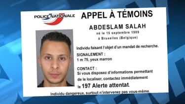 Salah Abdeslam est activement recherché depuis les attentats de Paris