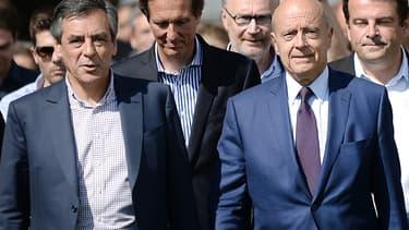 Alain Juppé et François Fillon le 5 septembre 2015 à l'université d'été de l'UMP.