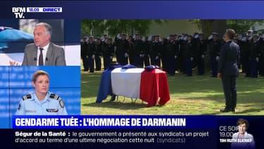 Story 4 : Gérald Darmanin rend hommage à la gendarme tuée - 09/07