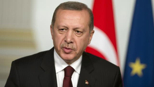 Recep Tayyip Erdogan le lundi 7 mars 2016.