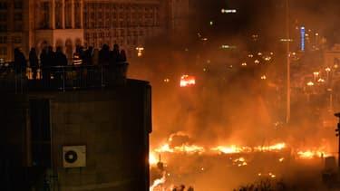 Kiev en proie à la violence entre le pouvoir et les manifestants pro-européens.