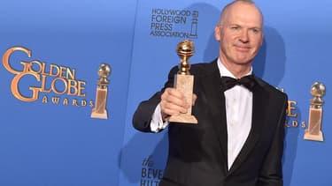 Michael Keaton aux Golden Globes en 2015.