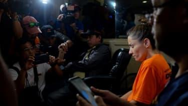 """Une Américaine, Jennifer Talbot, 42 ans, est accusée par les autorités philippines d'avoir dissimulé """"un bébé dans un sac"""" à l'aéroport de Manille"""