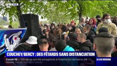 Dans le parc de Bercy à Paris et à Couchey près de Dijon, des fêtes sauvages sans distanciation sociale