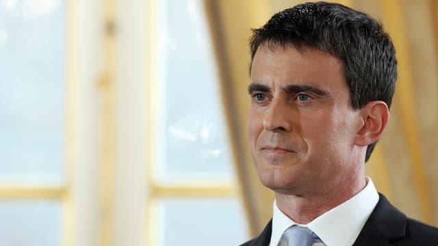 Manuel Valls lors de ses vœux à la presse.