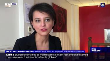 Auvergne-Rhône-Alpes: Najat Vallaud-Belkacem, candidate PS aux Régionales, détaille ses alliés à gauche