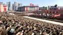 Une photo diffusée par la Corée du Nord montrant des Coréens rendant hommage au pouvoir, le 29 mars dernier.
