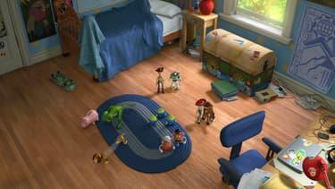 La chambre d'Andy, le propriétaire des jouets dans Toy Story