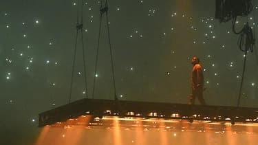 Kanye West en concert le 25 octobre à Inglewood en Californie.