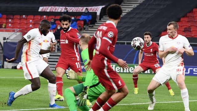 Salah lors de Liverpool-Leipzig