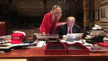 Kellyanne Conway et Donald Trump (28/11/2016)