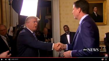 Donald Trump et James Comey à la Maison Blanche, le 22 janvier.