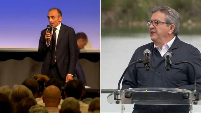 Eric Zemmour et Jean-Luc Mélenchon