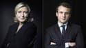 Marine Le Pen et Emmanuel Macron.
