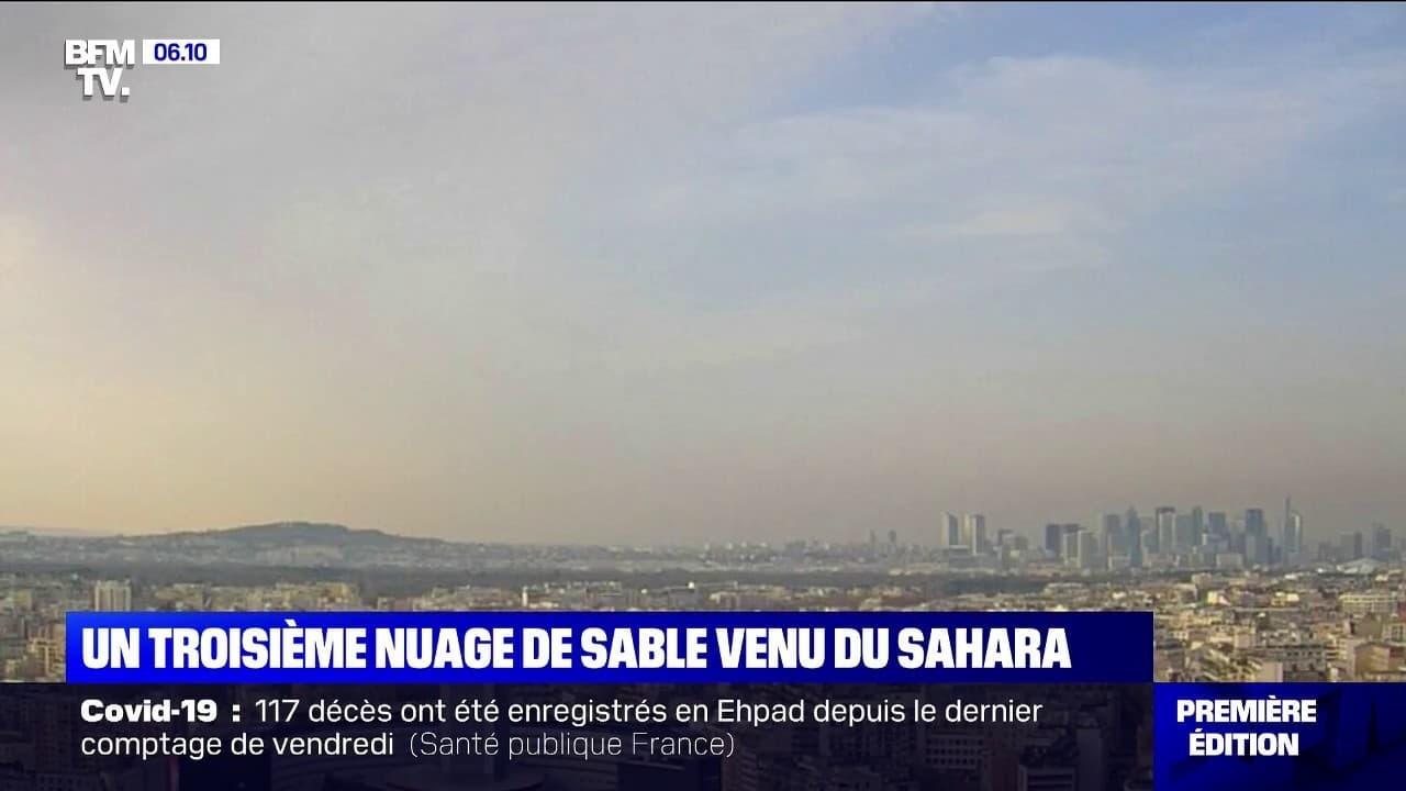 C'est la troisième fois en un mois qu'un nuage de sable venu du Sahara arrive sur l'Hexagone