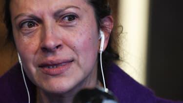 La journaliste colombienne Jineth Bedoya donne une conférence de presse à Bogota, le 23 mars 2021.