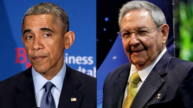 Barack Obama et son homologue cubain, Raul Castro.