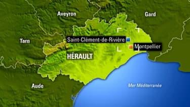 Saint-Clément-de-Rivière dans l'Hérault, où fait classe l'enseignante qui a utilisé la croix gammée en cours de géométrie.