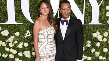Chrissy Teigen et John Legend le 11 juin 2017 à New York.