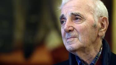 Charles Aznavour, le 16 novembre 2015.