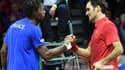 Gaël Monfils et Roger Federer