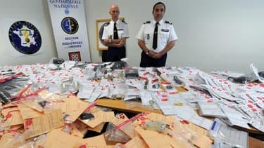 A la gendarmerie de Limoges en 2012, une saisie d'objets volés.