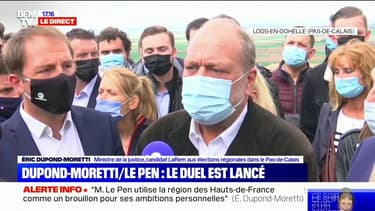 """Éric Dupond-Moretti: """"Je ne veux pas chasser sur les terres du Front national, je veux chasser le Front national de ces terres"""""""