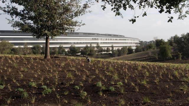 Le gigantesque siège d'Apple à Cupertino en Californie.