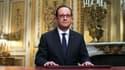 François Hollande lors de ses voeux aux Français, le 31 décembre 2014.