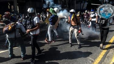 Manifestation contre Nicolas Maduro au Venezuela, le 20 mai 2017.