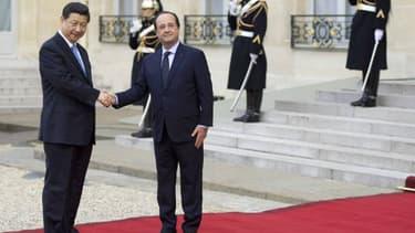 L'Elysée a déroulé le tapis rouge pour le visite du président chinois.