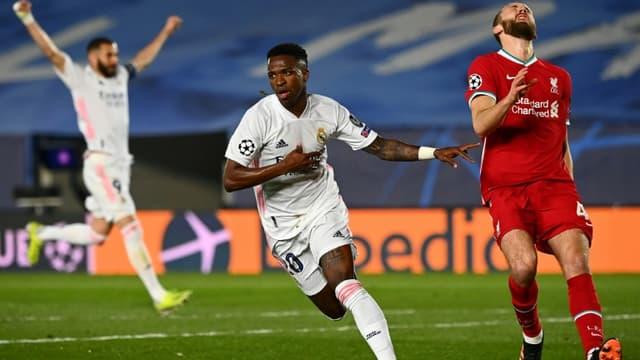 Real Madrid, porté par Vinicius Junior, a dominé Liverpool en Ligue des champions au stade Alfredo di Stefano près de Madrid, le 6 avril 2021