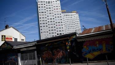 Les immeubles de la cité des Boute-en-Train à Saint-Ouen.