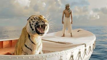 """King, le tigre du Bengale dans """"L'Odyssée de Pi"""" de Ang Lee."""