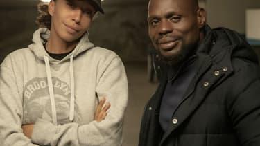 """Leïla Sy et Kery James, le duo derrière le film Netflix """"Banlieusards""""."""