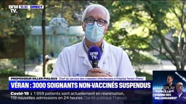 """Pr Gilles Pialoux sur les soignants non-vaccinés: """"Les choses vont dans le bon sens et on ne peut pas le faire sans fermeté"""""""