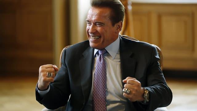 Arnold Schwarzenegger à Paris le 28 avril 2017