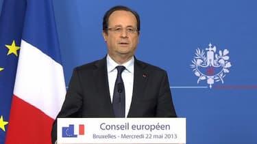 François Hollande s'est exprimé à l'issue du Conseil européen de Bruxelles, mercredi 22 mai.