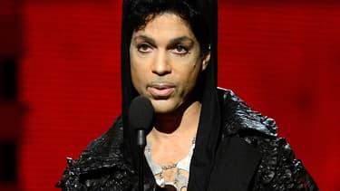 Prince lors des Grammy Awards en février 2013