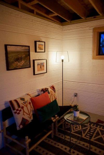 L'intérieur de la maison conçue par l'entreprise Icon.