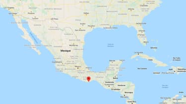 Carte du Mexique.