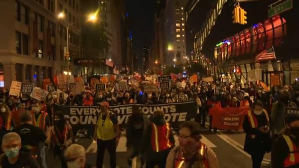 Manifestation à New York