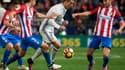 Filipe Luis, Cristiano Ronaldo et Koke samedi à Madrid