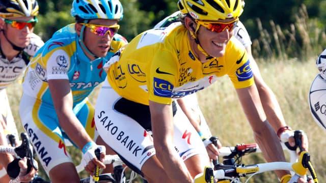 Andy Schleck en jaune